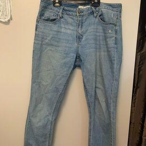 unpublished boyfriend fit light denim jeans